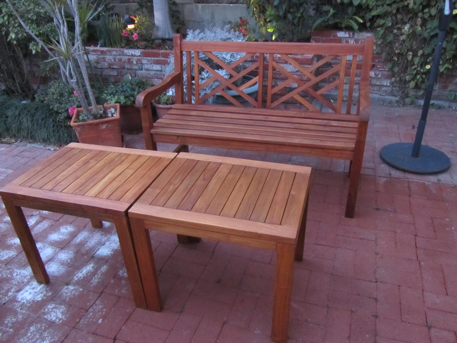 ... teak patio furniture I revived with Penofin Verde. I am very proud of