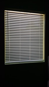 It's hard to take a picture of blinds with the light coming in from behind!
