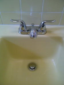 quick change made big impact on this bathroom sink!